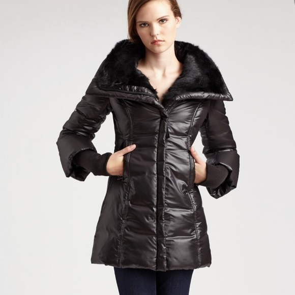 Mackage Magda Down Puffer Jacket Rabbit Fur Collar